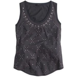 NWT J. Crew | Studded Metallic Tank Top